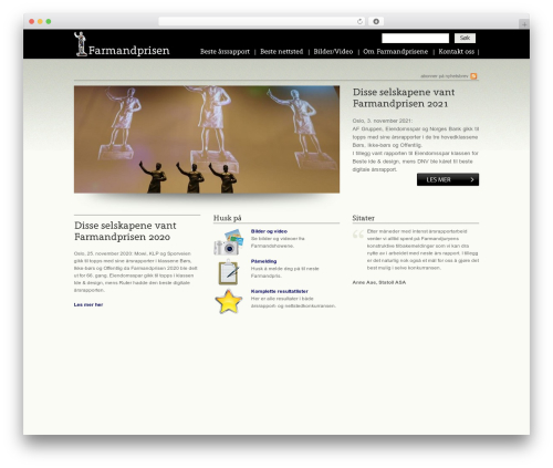 Theme WordPress Devster - farmandprisen.no