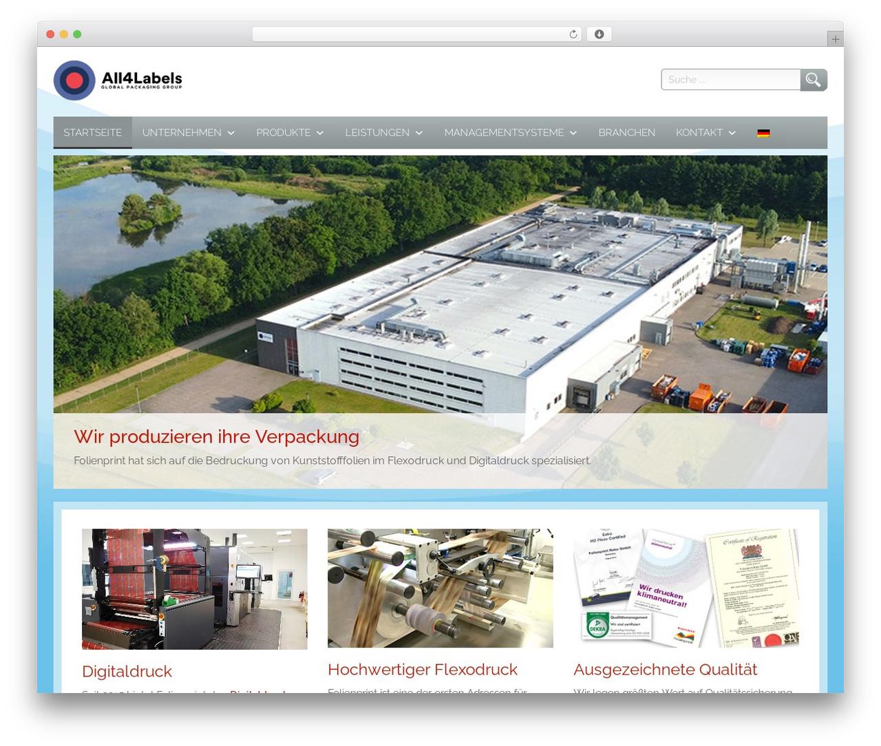 Theme WordPress Folienprint Wordpress Theme - folienprint.de