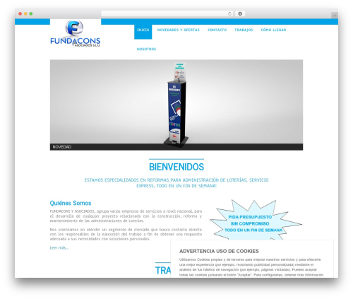 Theme WordPress Simplicity Lite - fundacons.com