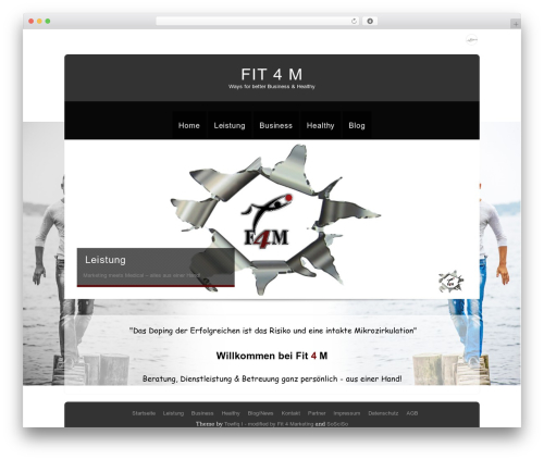 Theron Lite company WordPress theme - fit4m.de