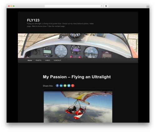 Twenty Eleven best free WordPress theme - fly123.nl