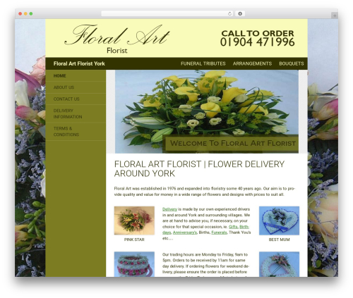 Twenty Fourteen theme WordPress - floralart-york.co.uk