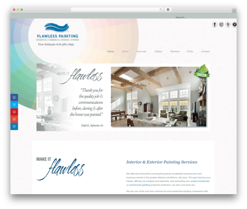 U-Design WordPress template - flawlesspainting.com