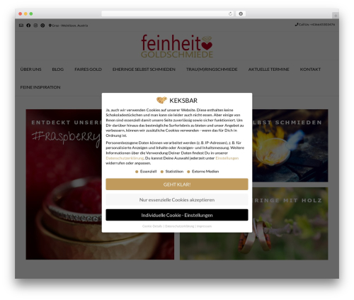 Vogue WordPress ecommerce theme - feinheit.at