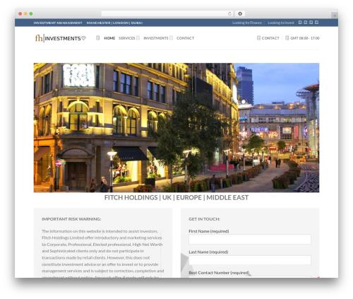 WordPress template Flatsome - fitchholdings.com
