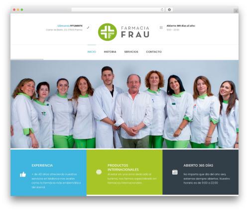 WordPress theme Dentario - farmaciafrau.es
