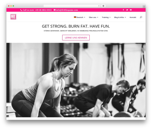 WordPress theme Divi - fit4thegame.com