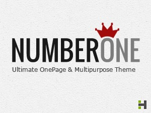 WordPress theme NumberOne (shared on wplocker.com)