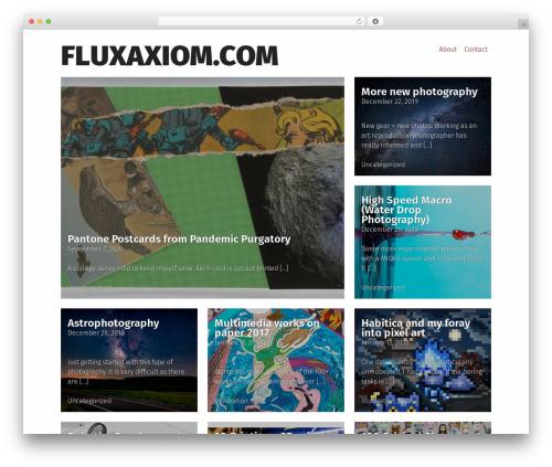 WordPress website template Grid Magazine - fluxaxiom.com