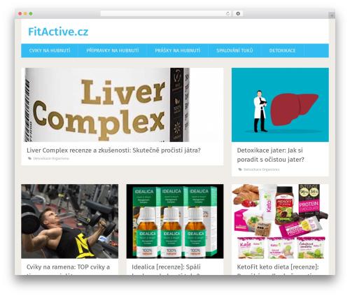 WP theme SociallyViral by MyThemeShop - fitactive.cz