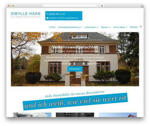Arouse template WordPress - die-immobilien-gutachterin.de
