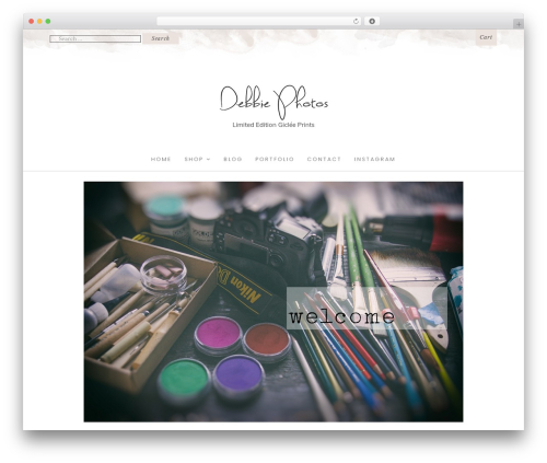 Best WordPress template Hallie - Premium - debbiephotos.com