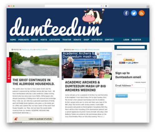 bloggr WordPress page template - dumteedum.com
