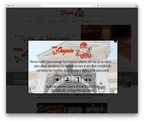 TheFox best WordPress template - dondeaugusto.cl
