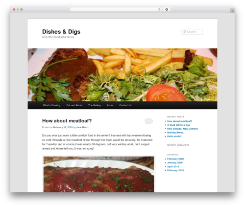 Twenty Eleven best free WordPress theme - dishesanddigs.com