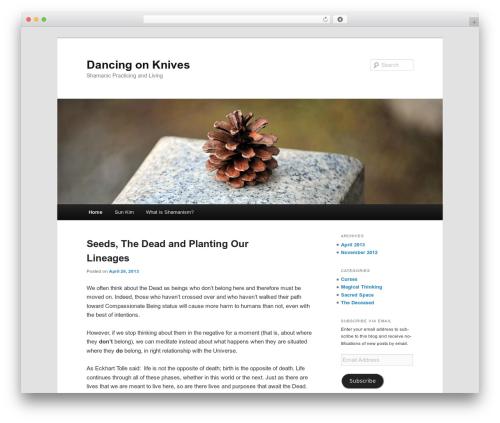 Twenty Eleven free WordPress theme - dancingonknives.com