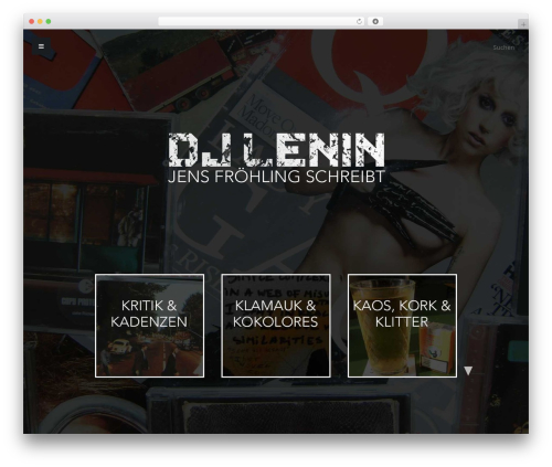Typer theme WordPress - djlenin.de