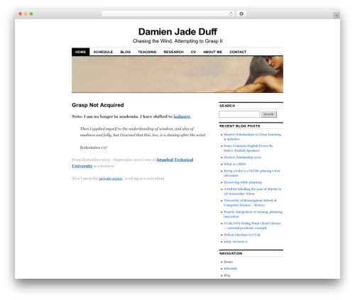 WordPress theme Coraline - djduff.net