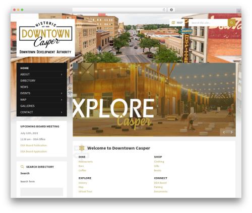 WordPress theme TownPress - downtowncasper.com