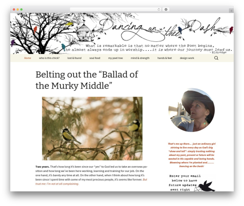 WordPress theme Twenty Thirteen - dancingonthedash.com