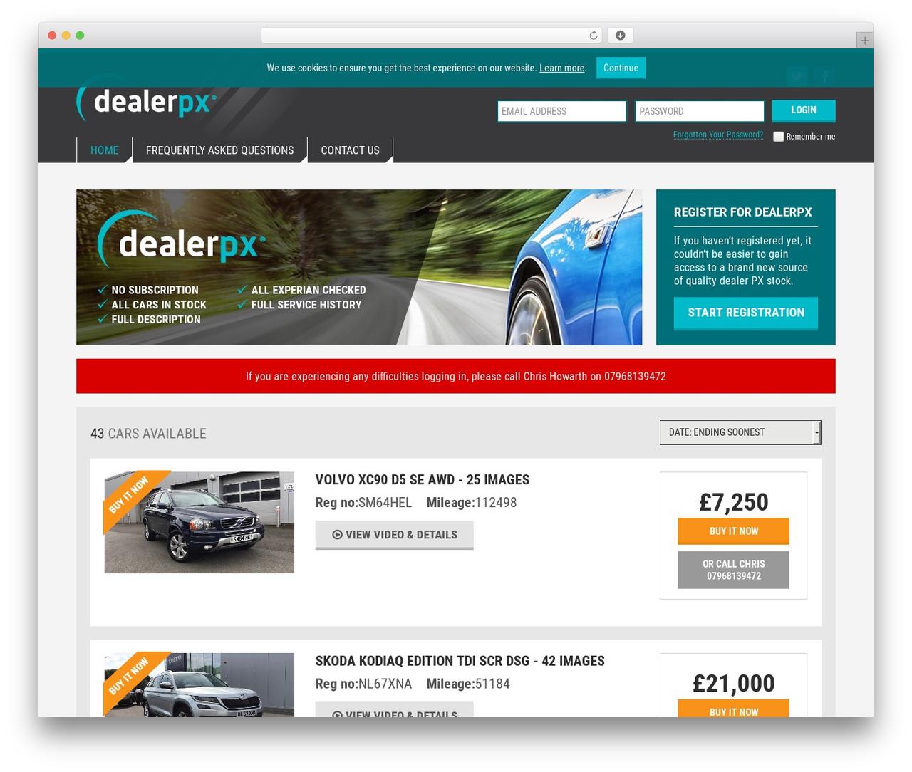 Best WordPress template Dealerpx - dealerpx.com