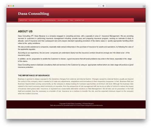 Oracle WordPress template - dasa-consulting.com