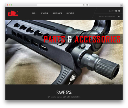 Sportexx WordPress theme - dakotatactical.com