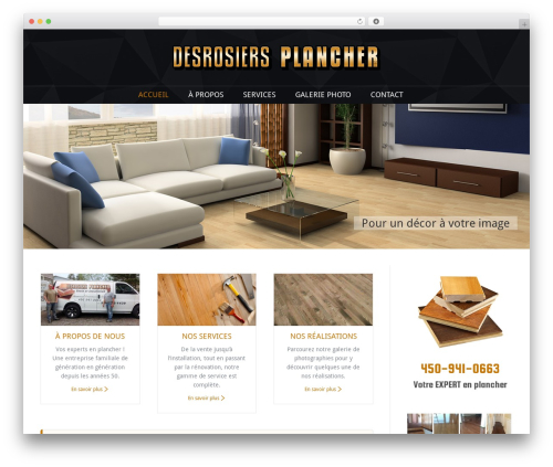 The7 premium WordPress theme - desrosiersplancher.com