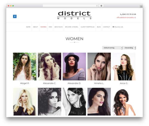 WordPress template Gilda - districtmodels.ro/women