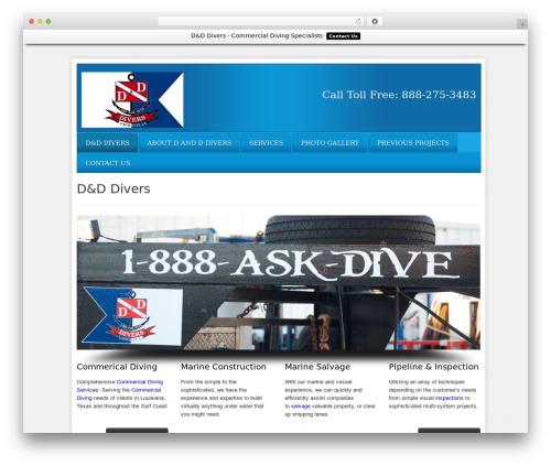WordPress theme Local Business Pro Responsive Theme - dandddivers.com