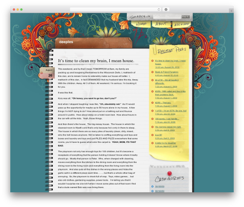 WordPress theme Notepad Chaos - deeples.com