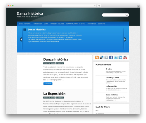WordPress website template Calypso - danzahistorica.es