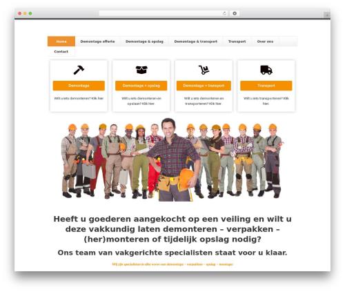 WP theme Finesse - demonteurs.nl