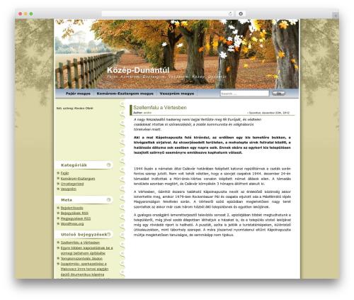 Best WordPress theme Maple Leaf - kd.bloglog.hu