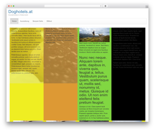 Bootstrap Basic template WordPress free - doghotels.at
