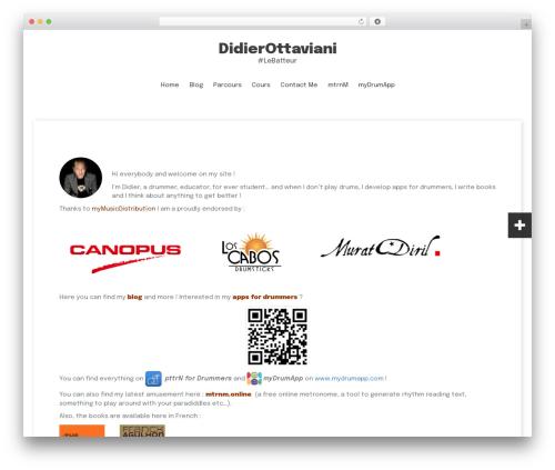 Fara WordPress template free - didier-ottaviani.com