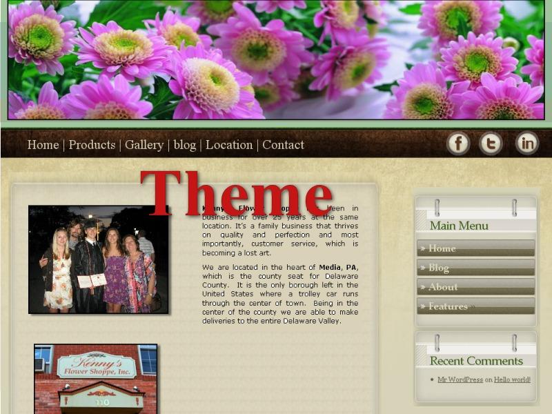 Kenny's Flower Shoppe WordPress ecommerce theme