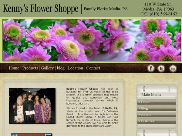 Kenny's Flower Shoppe WordPress shop theme
