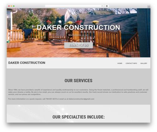 SKT White top WordPress theme - dakerconstruction.com