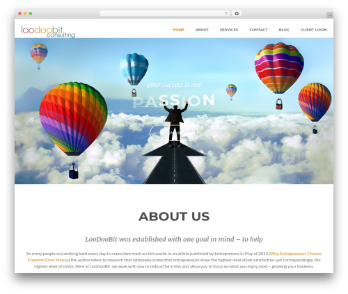 Superb WordPress theme - dev.loodoobit.com