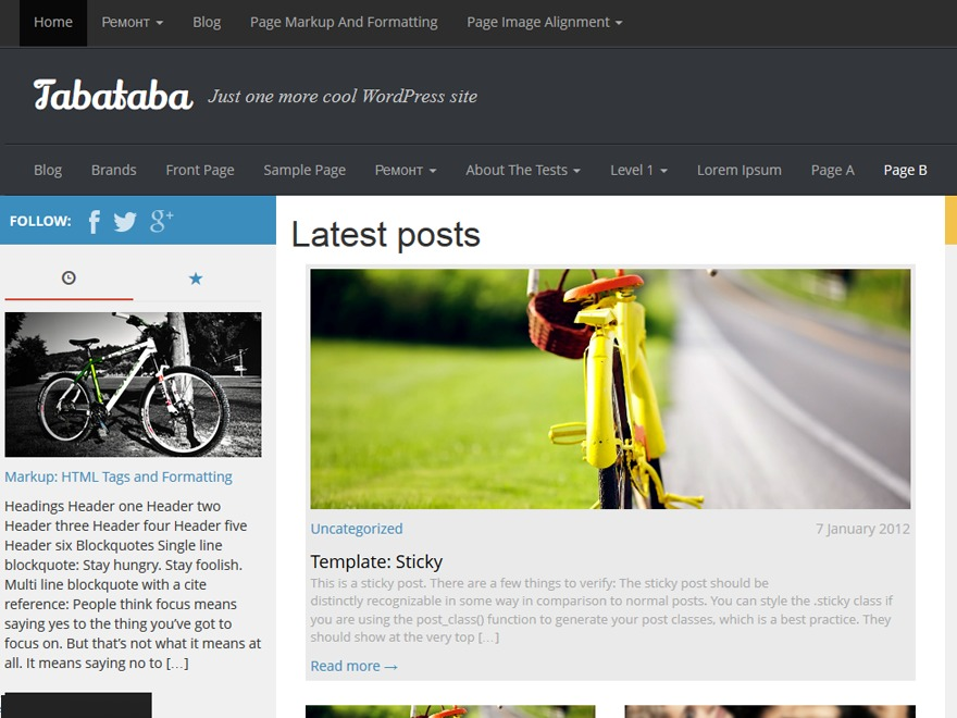 Theme WordPress Tabataba by freethemesnow.net - sharingtvser