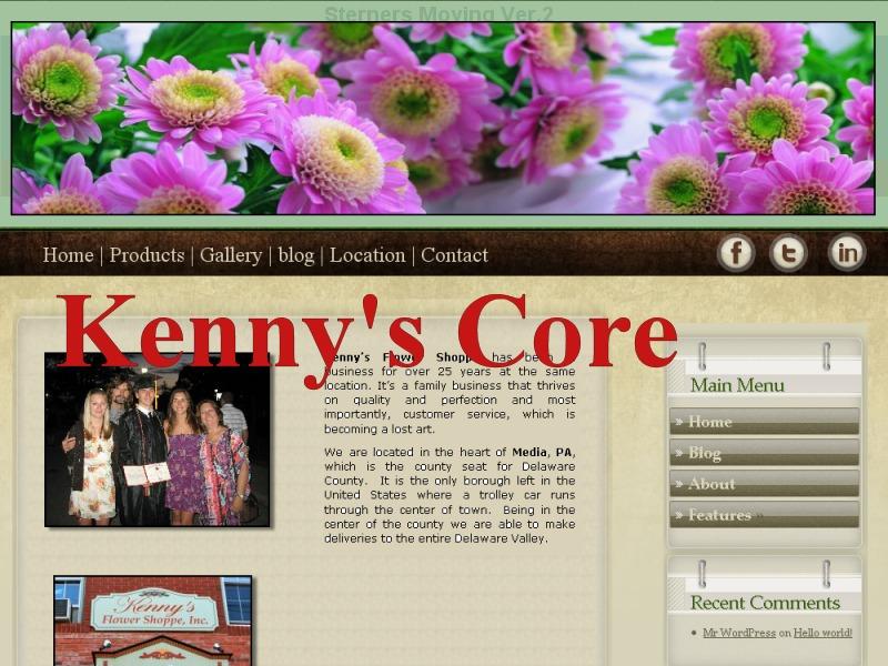 Template WordPress Kenny's Main