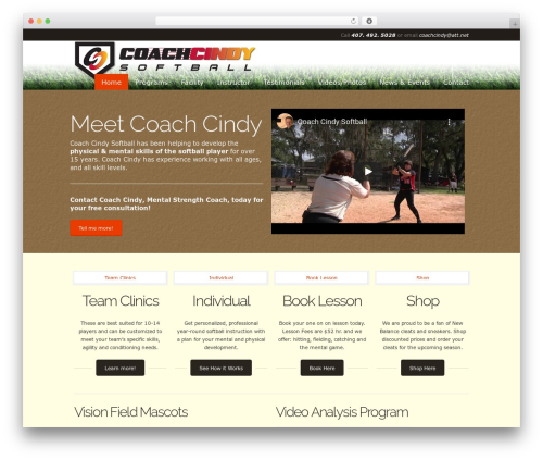 Template WordPress Simplicity - demo.coachcindysoftball.com