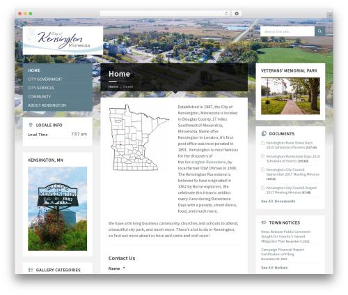 TownPress WordPress theme - kensingtonmn.com