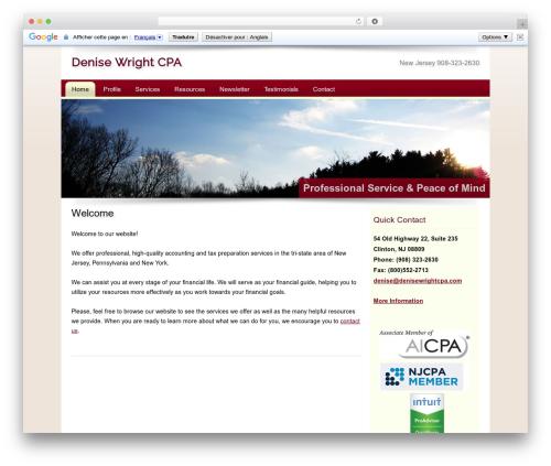 WordPress website template Customized - denisewrightcpa.com