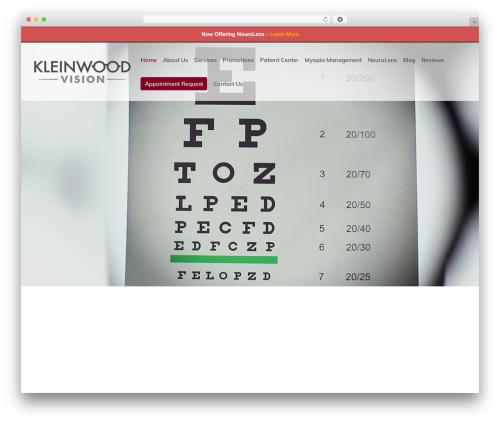 Divi WordPress theme - kleinwoodvision.com