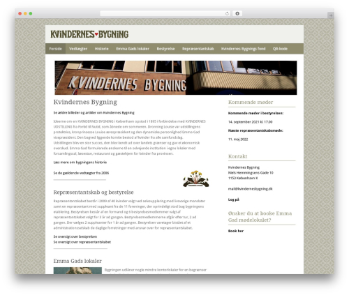 Fresh And Clean WordPress theme design - kvindernesbygning.dk