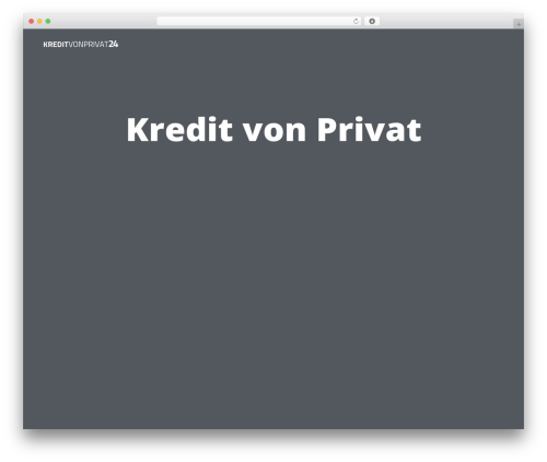 The Clean Blog WordPress theme - kreditvonprivat24.info