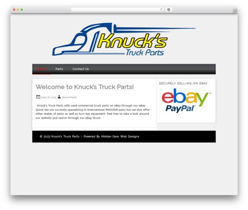 WordPress theme Isquar - knuckstruckparts.com