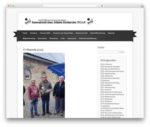 WordPress website template Simply Jigoshop - kameradschaft-kirchborchen.de